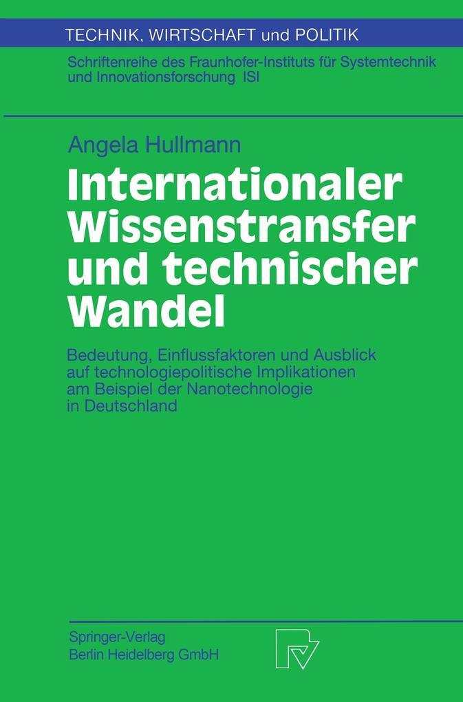 Internationaler Wissenstransfer und Technischer...