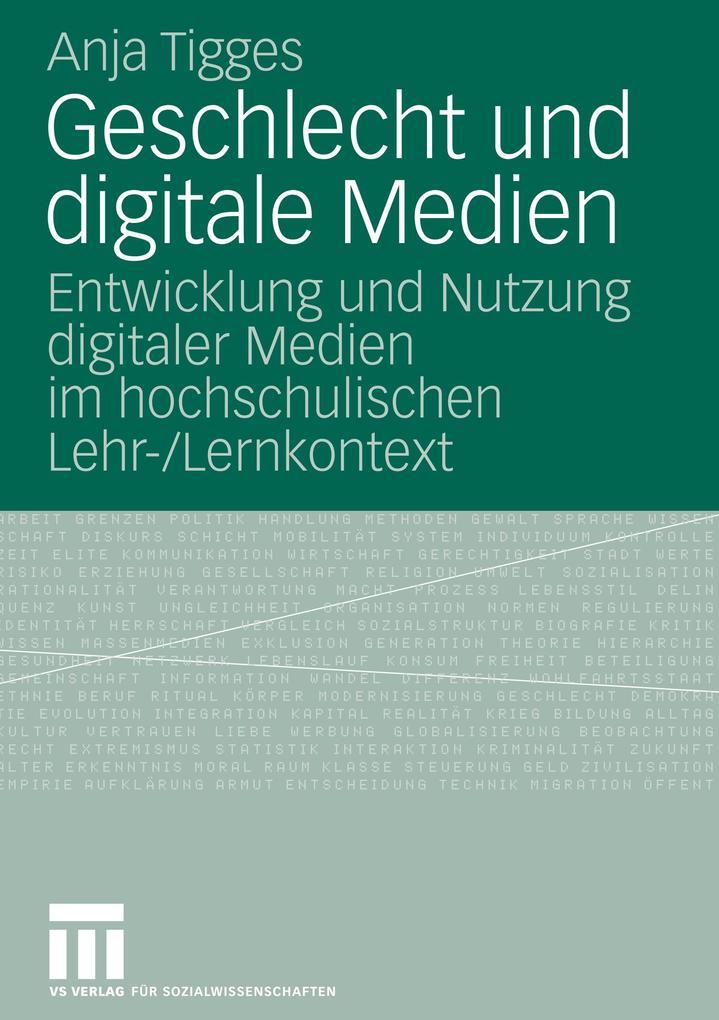 Geschlecht und digitale Medien als Buch von Anj...