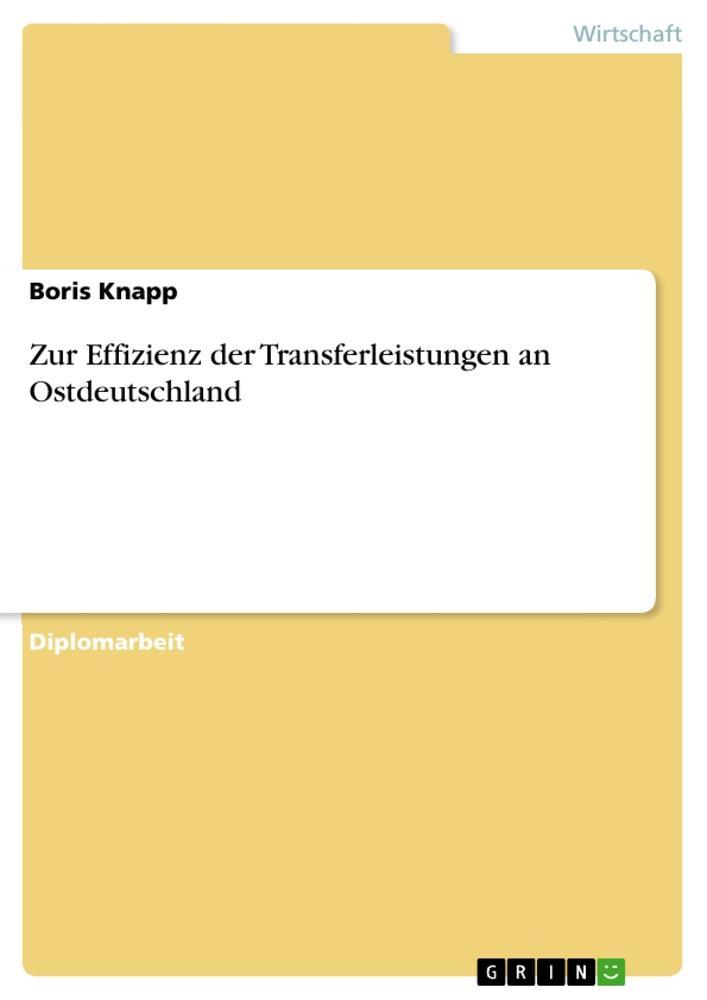 Zur Effizienz der Transferleistungen an Ostdeut...