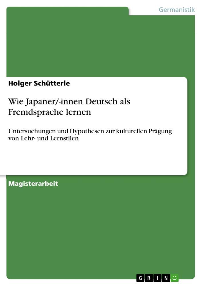 Wie Japaner/-innen Deutsch als Fremdsprache ler...
