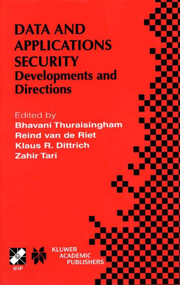 Data and Application Security als Buch (gebunden)