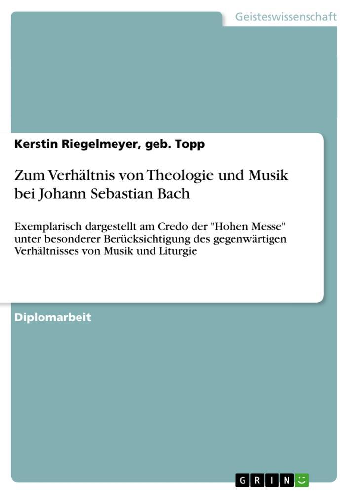 Zum Verhältnis von Theologie und Musik bei Joha...