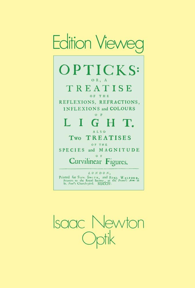 Optik als Buch von Isaac Newton