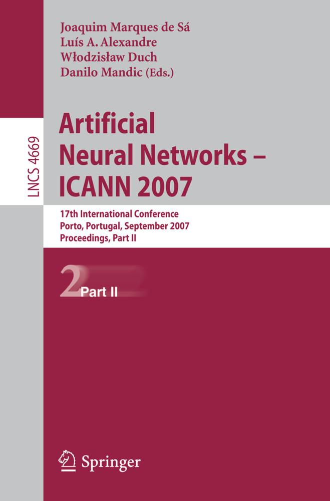 Artificial Neural Networks - ICANN 2007 als Buch (kartoniert)
