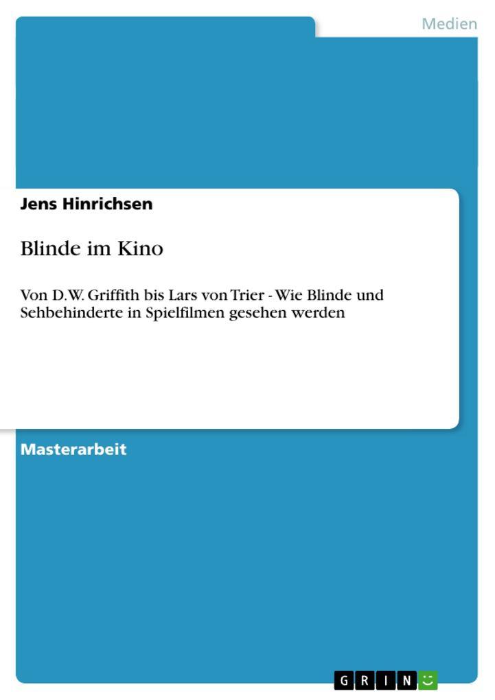 Blinde im Kino als Buch von Jens Hinrichsen