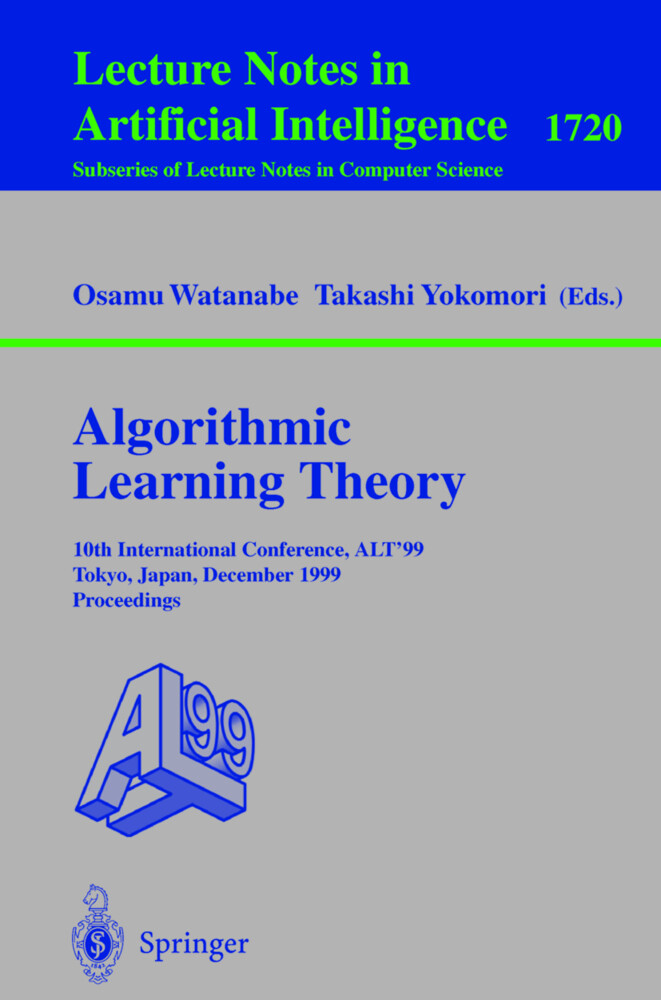 Algorithmic Learning Theory als Buch von Osamu ...