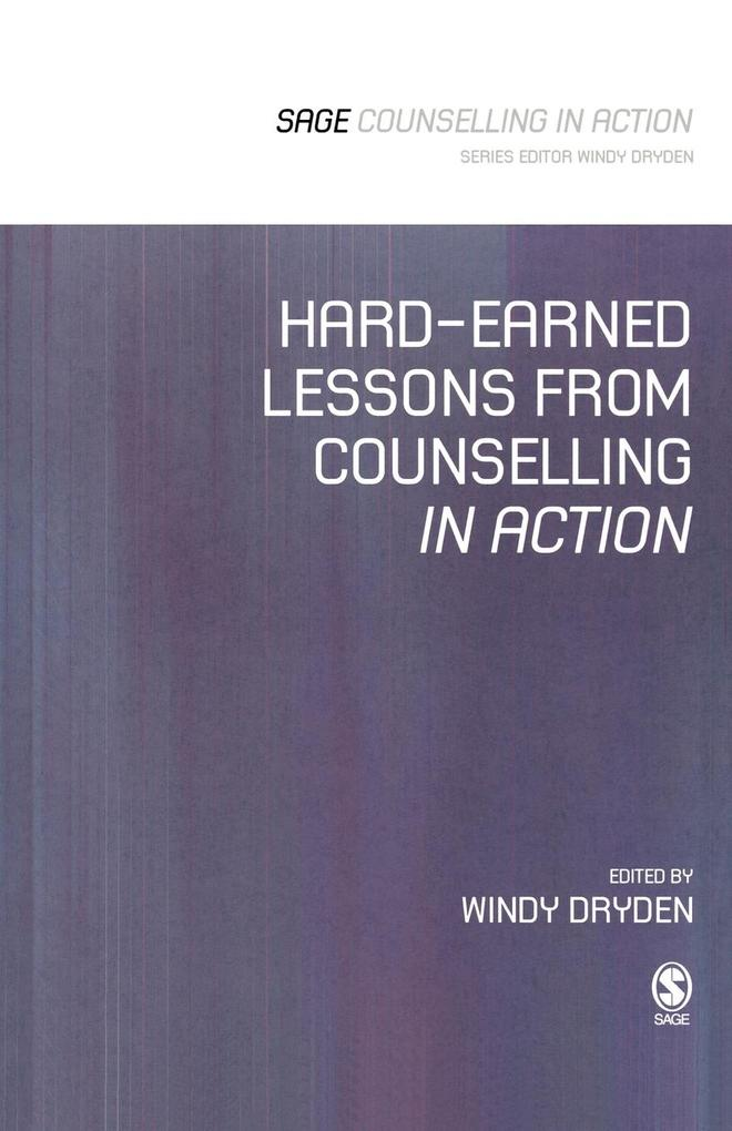 Hard-Earned Lessons from Counselling in Action ...