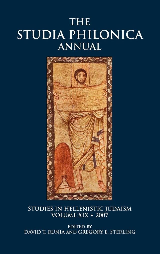 The Studia Philonica Annual, XIX, 2007 als Buch...