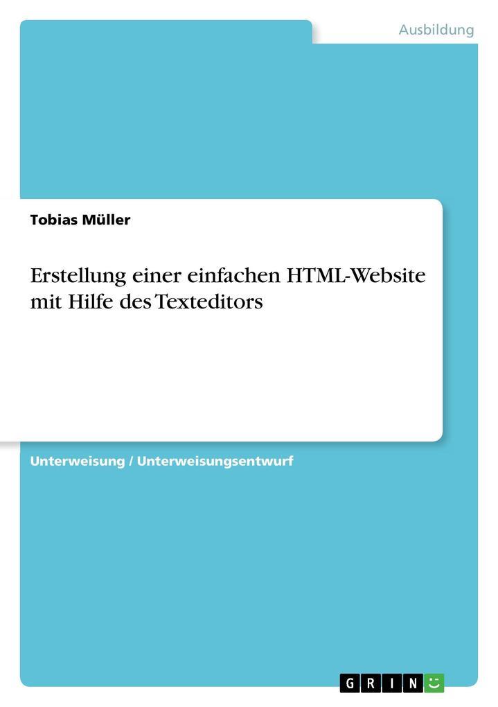 Erstellung einer einfachen HTML-Website mit Hil...