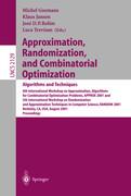 Approximation, Randomization and Combinatorial Optimization: Algorithms and Techniques