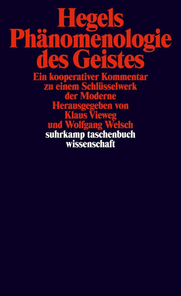Hegels Phänomenologie des Geistes als Taschenbuch