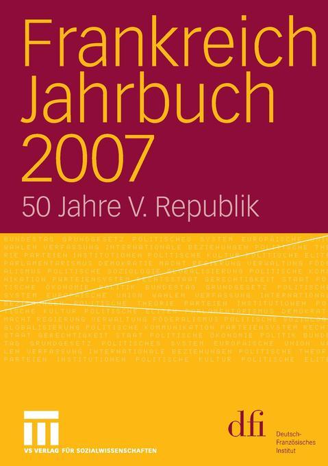 Frankreich Jahrbuch 2007 als Buch von