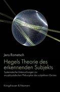 Hegels Theorie des erkennenden Subjekts