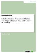 Schulbuchanalyse - Gendersensiblität in den Religionsbüchern der 3. und 4. Klasse HS und AHS