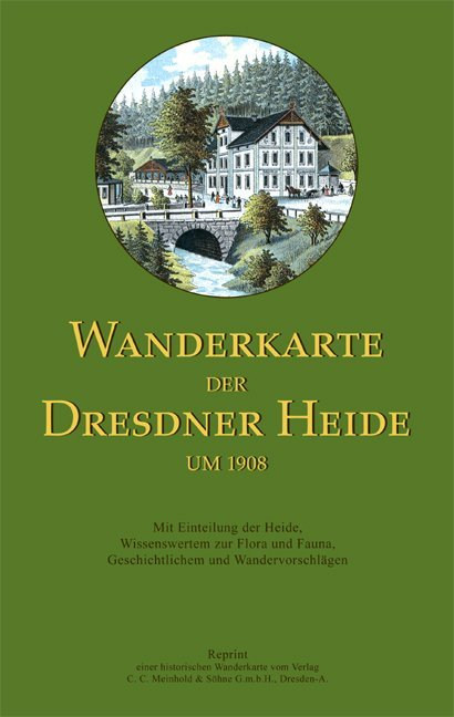 Wanderkarte der Dresdner Heide um 1908 als Blätter und Karten
