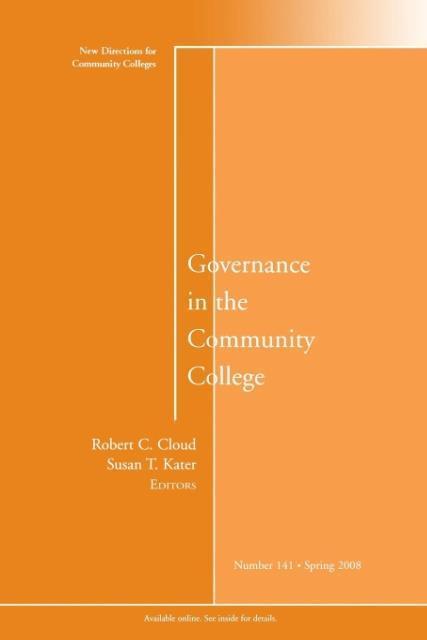 Governance in the Community College als Taschen...