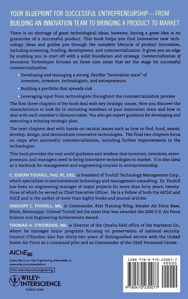 Innovative Technology als Buch von Touhill, O R...