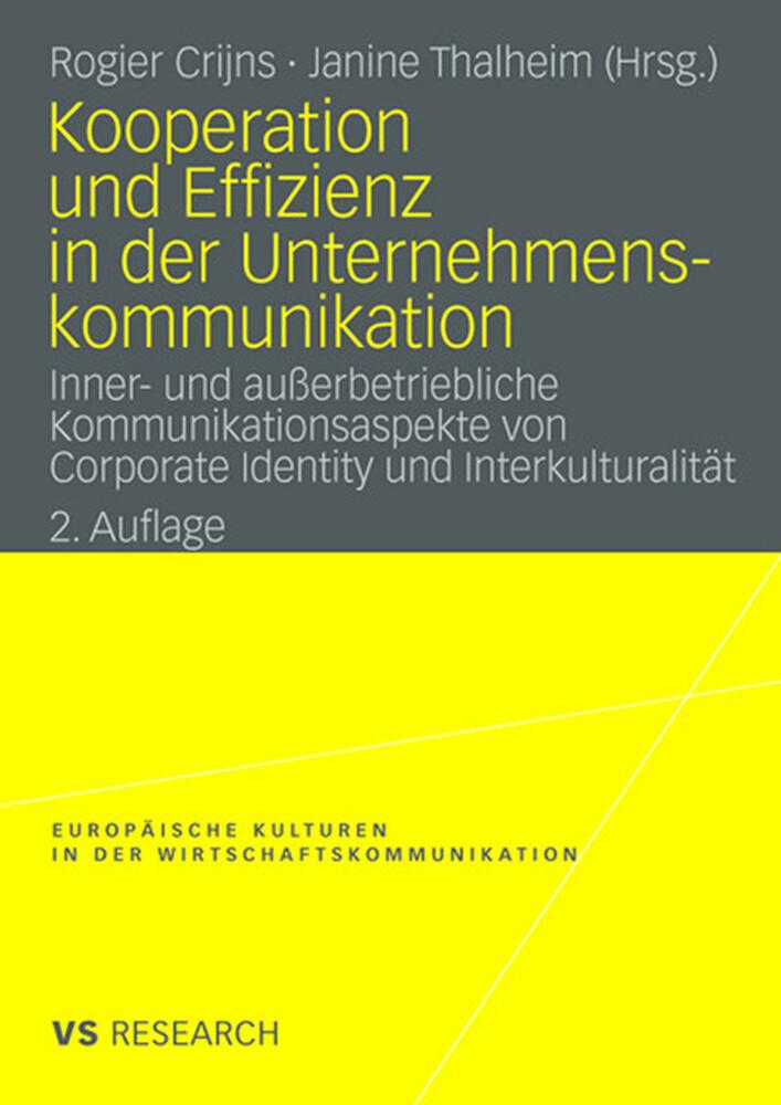 Kooperation und Effizienz in der Unternehmensko...