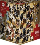 Heye - Dreieckspuzzle - Degano Black or White, 1000 Teile