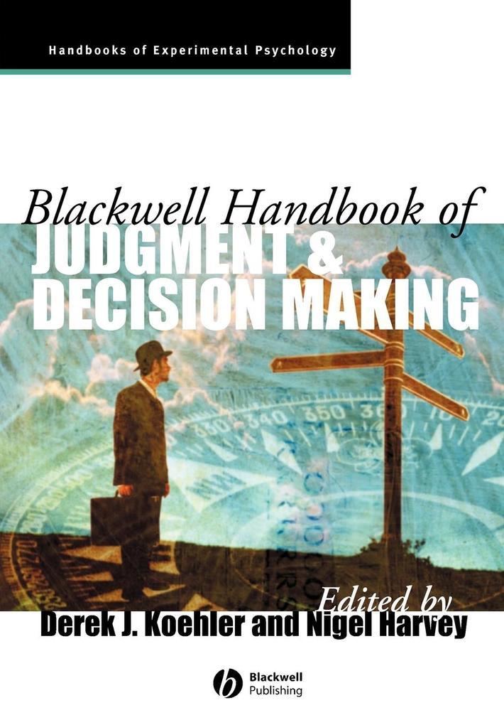 Judgment Decision Making als Taschenbuch von Ko...