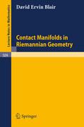 Contact Manifolds in Riemannian Geometry