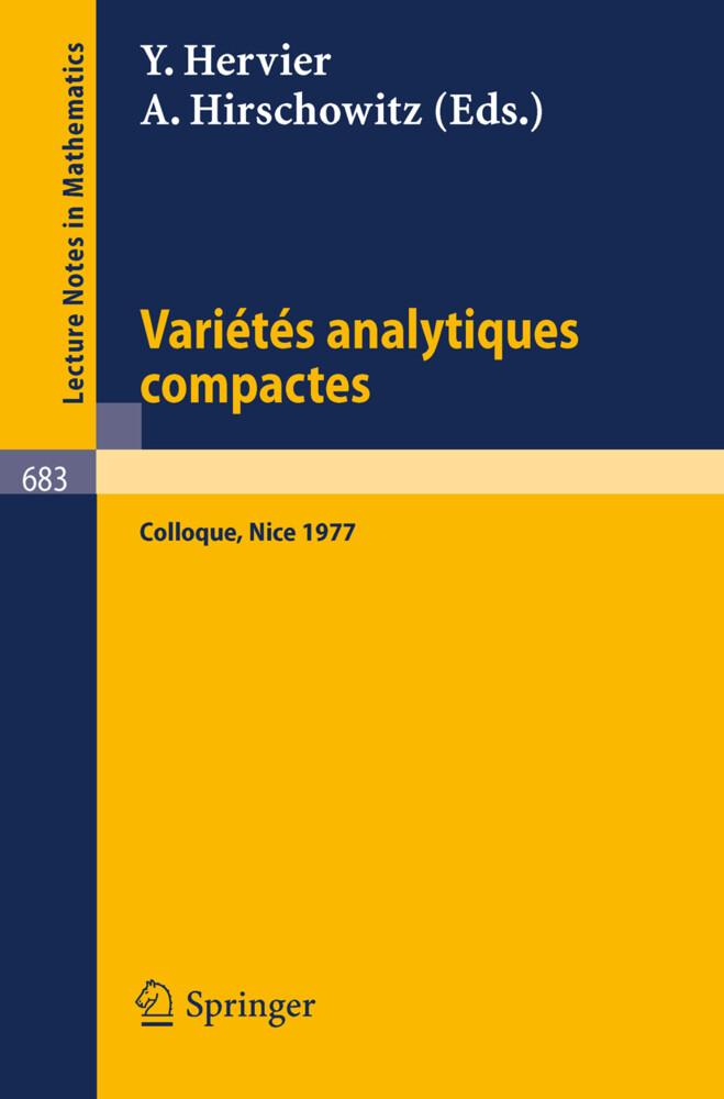 Varietes Analytiques Compactes als Buch von