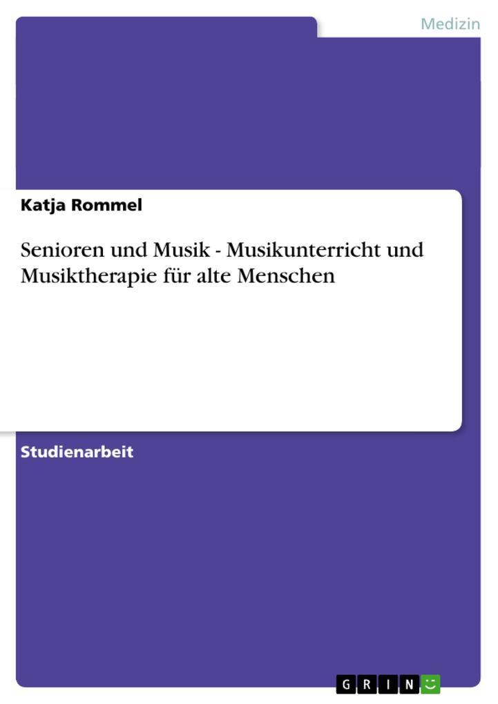 Senioren und Musik - Musikunterricht und Musikt...
