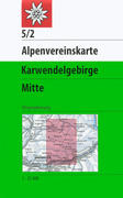 DAV Alpenvereinskarte 05/2 Karwendelgebirge Mitte 1 : 25 000