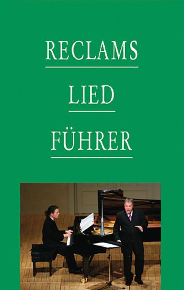 Reclams Liedführer als Buch von Werner Oehlmann...