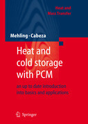Heat and cold storage with PCM