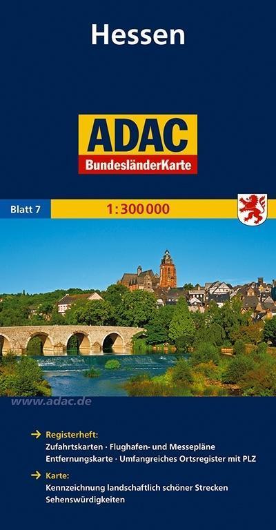 ADAC BundesländerKarte Deutschland 07. Hessen 1...