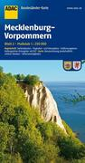ADAC BundesländerKarte Deutschland 02. Mecklenburg-Vorpommern 1 : 250 000