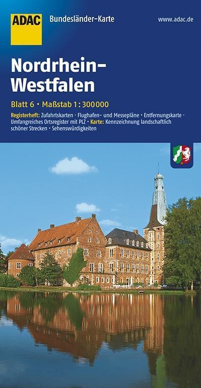 ADAC BundesländerKarte Deutschland 06. Nordrhei...