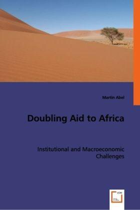 Doubling Aid to Africa als Buch von Martin Abel