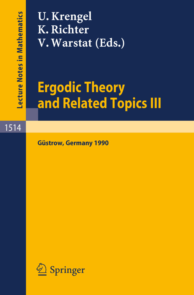 Ergodic Theory and Related Topics III als Buch von