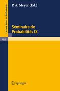 Séminaire de Probabilités IX