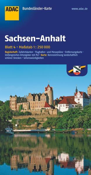 ADAC BundesländerKarte Deutschland 04. Sachsen-...