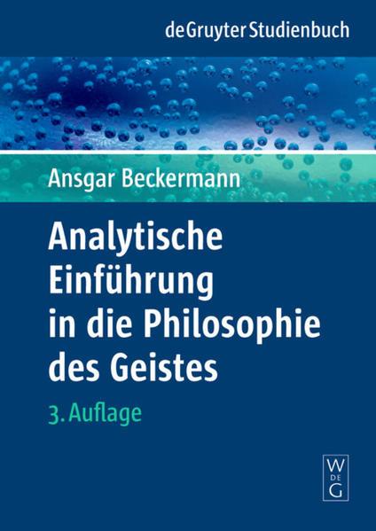 Analytische Einführung in die Philosophie des Geistes als Buch