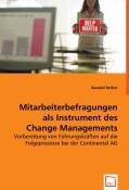 Mitarbeiterbefragungen als Instrument des Change Managements