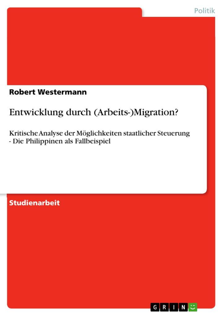 Entwicklung durch (Arbeits-)Migration? als Buch...