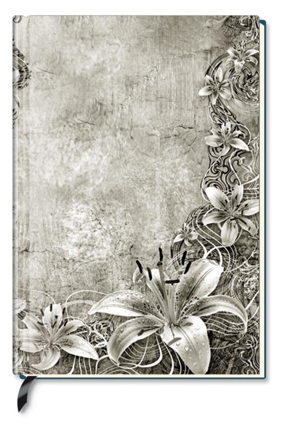Premium Book Floral Art Notizbuch liniert