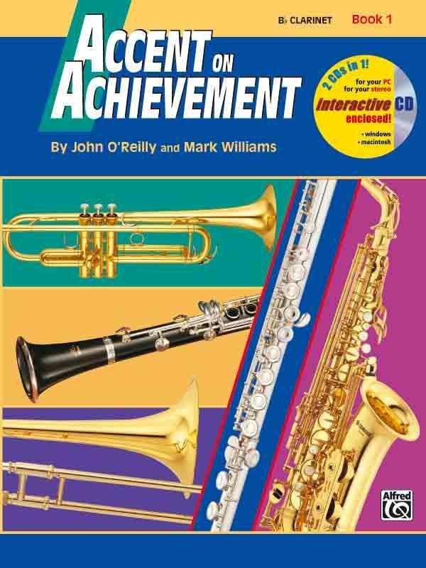 Accent on Achievement, Bk 1: Combined Percussion---S.D., B.D., Access. & Mallet Percussion, Book & CD als Buch