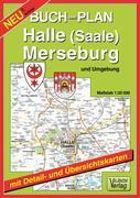 Buchstadtplan Halle (Saale) , Merseburg und Umgebung 1 : 20 000