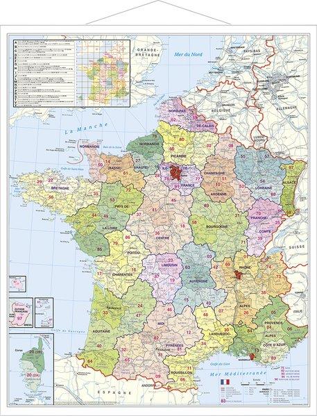 Frankreich Departements Karte.Departement Frankreich Plano Karte