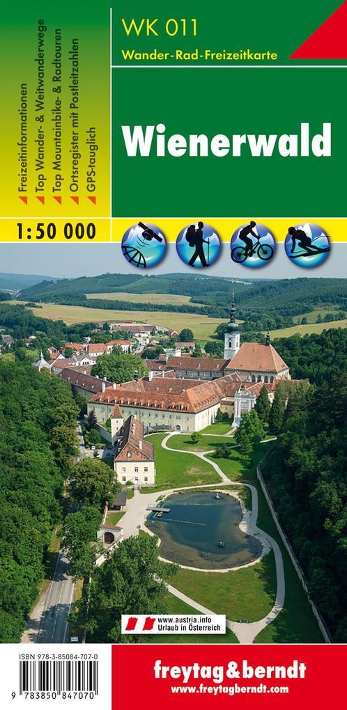 Wienerwald 1 : 50 000. WK 011 als Blätter und Karten