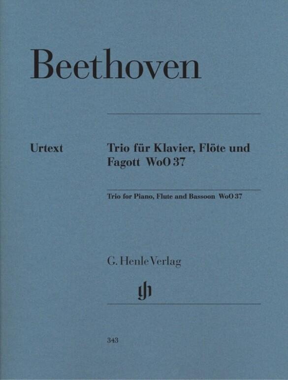 Trio für Klavier, Flöte und Fagott WoO 37 als B...