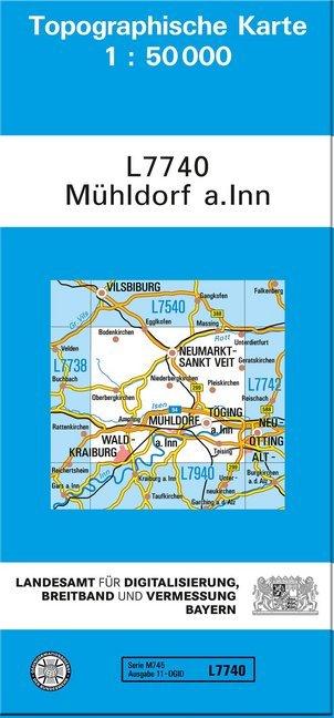 Topographische Karte Bayern.Topographische Karte Bayern Mühldorf A Inn