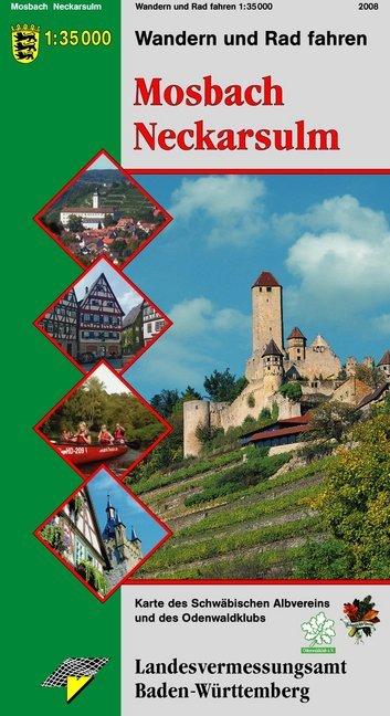 Karte des Schwäbischen Albvereins 03 Mosbach Ne...