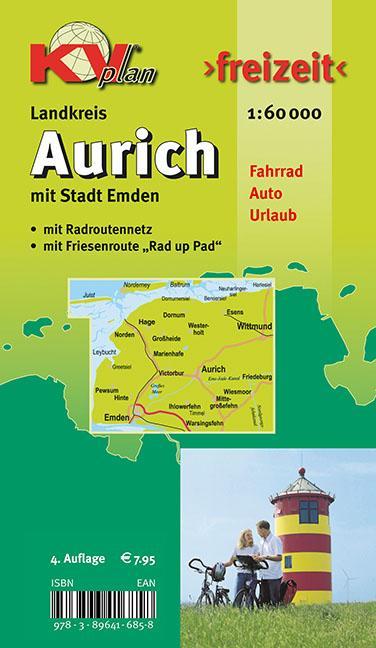 Aurich Landkreis mit Stadt Emden 1 : 60 000 als...