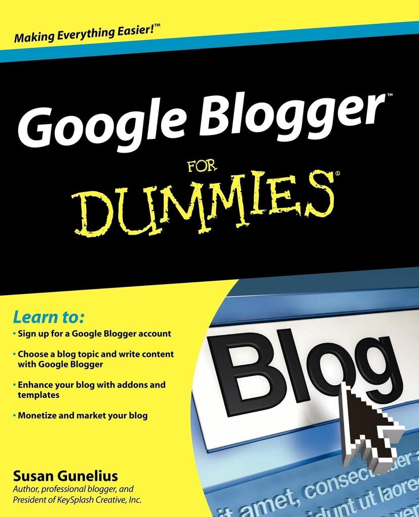 Google Blogger for Dummies als Taschenbuch von ...